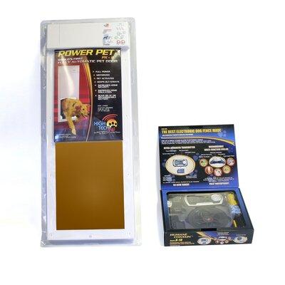 "Power Door Plus Dog Electric Fence Size: Medium (4"" H x 16"" W x 30"" )"