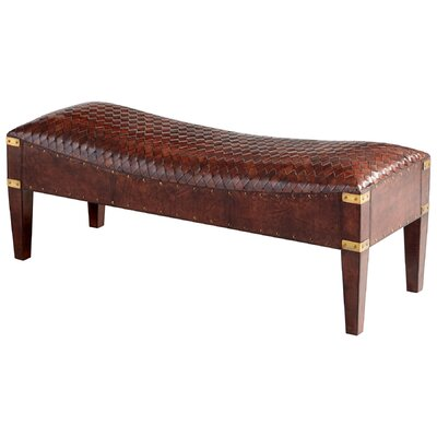 Cyan Design Mechi Leather Bench
