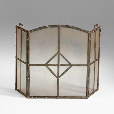 Cyan Design Lincoln 3 Panel Iron Fireplace Screen
