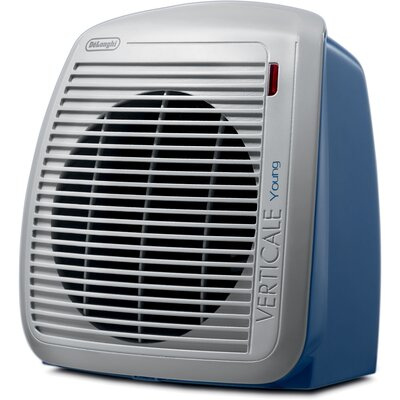 1,500 Watt Portable Electric Fan Compact Heater with Adjustable Thermostat Finish: Blue / Gray