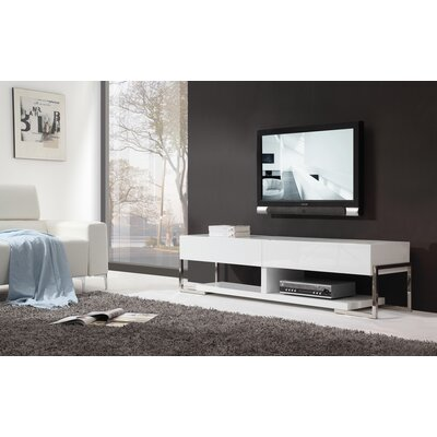 "Agent 71"" TV Stand Color: White Glass"