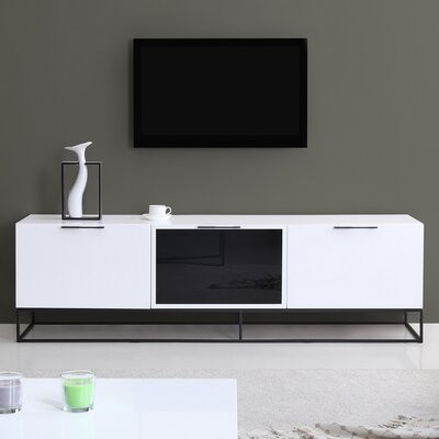 "Animator 71"" TV Stand Color: White"