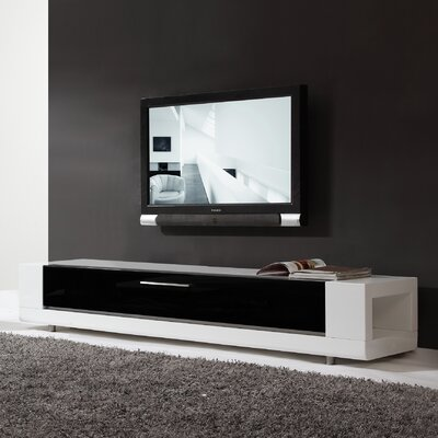 "Editor Remix 79"" TV Stand Color: White"