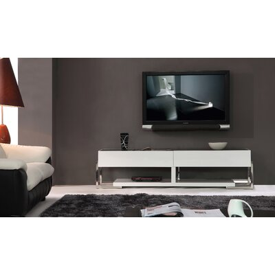 "Agent 71"" TV Stand Color: Black Glass"