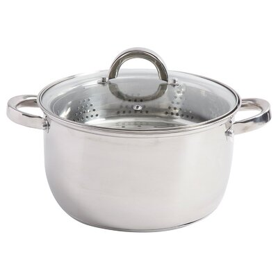 Sangerfield 6 Qt. Stainless Steel Multi-pot with Steamer Insert and Lid