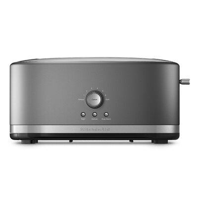 4 Slice Metal Toaster Color: Silver