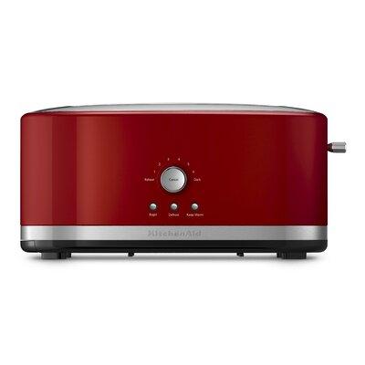 4 Slice Metal Toaster Color: Red