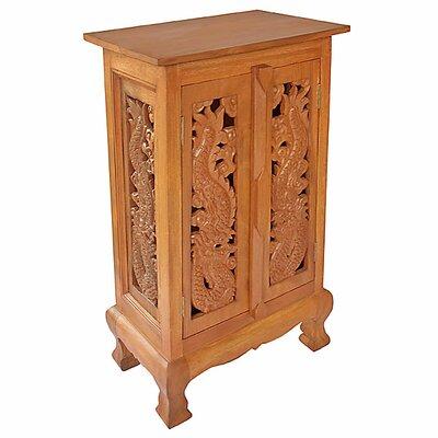 Acacia 2 Door Storage Accent Cabinet Color: Natural
