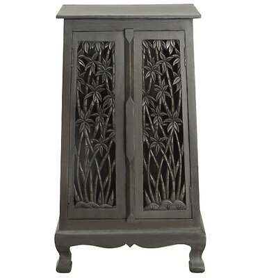 Acacia 2 Door Storage Accent Cabinet Color: Rich Dark