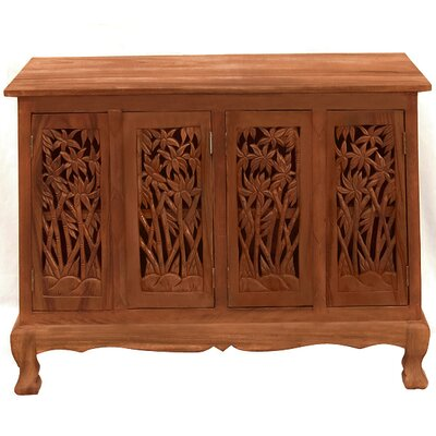 Handmade Acacia Bamboo Forest Storage Accent Cabinet Color: Natural