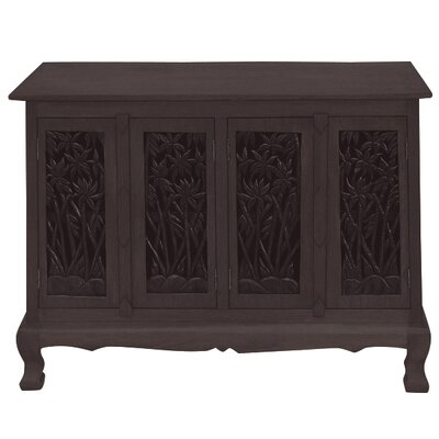 Handmade Acacia Bamboo Forest Storage Accent Cabinet Color: Rich Dark