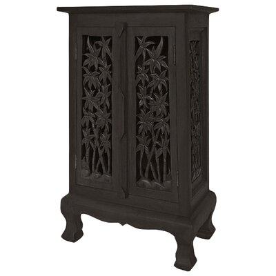 Acacia 2 Door Storage Accent Cabinet Color: Rich Dark