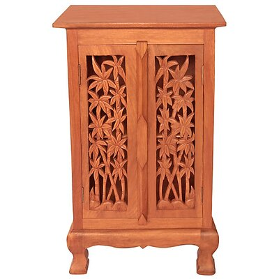 Acacia 2 Door Storage Accent Cabinet Color: Natural
