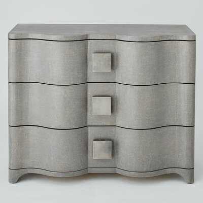 Toile Linen 3 Drawer Accent Chest Color: Gray