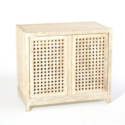 Driftwood Lattice 2 Door Accent Cabinet