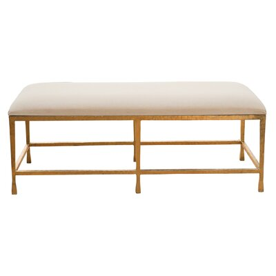 Quad Pod Upholstered Bench Color: Gold Leaf