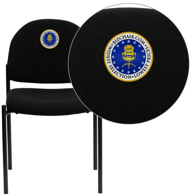 Personalized Comfortable Stackable Steel Guest Chair Seat Color: Black, Arms: Without Arms