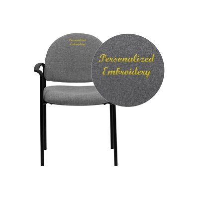 Personalized Comfortable Stackable Steel Guest Chair Seat Color: Gray, Arms: With Arms