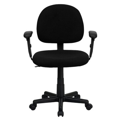 Personalized Desk Chair Upholstery: Black, Arms: With Arms