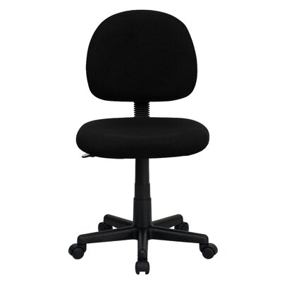 Personalized Desk Chair Upholstery: Black, Arms: No Arms
