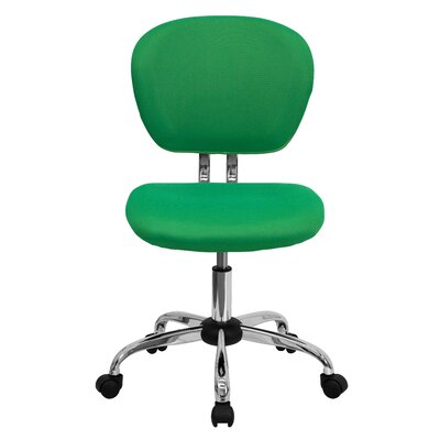 Personalized Mid-Back Mesh Desk Chair Color: Bright Green, Arms: No Arms