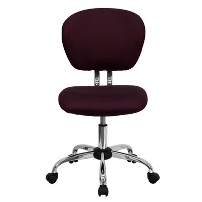 Personalized Mid-Back Mesh Desk Chair Color: Burgundy, Arms: No Arms