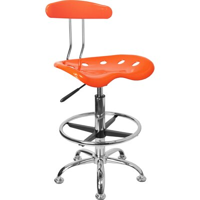 Personalized High-Back Drafting Chair Upholstery: Orange