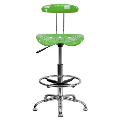 Personalized High-Back Drafting Chair Upholstery: Lime