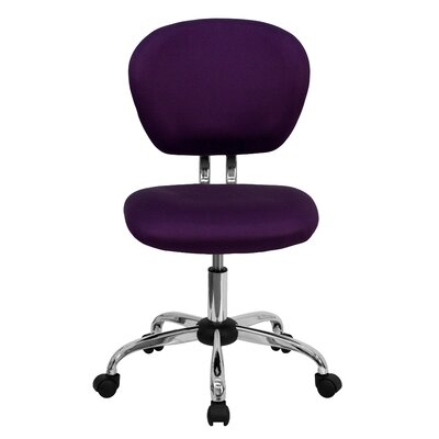 Personalized Mid-Back Mesh Desk Chair Color: Purple, Arms: No Arms