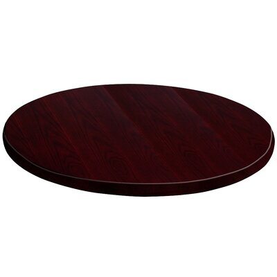 """Round Veneer Table Top Color: Walnut, Size: 1.38"""" H x 24"""" W x 24"""" D"""