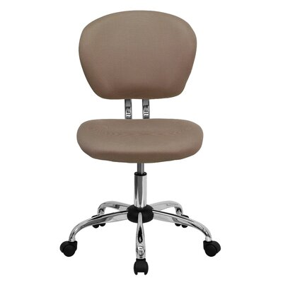 Personalized Mid-Back Mesh Desk Chair Color: Coffee Brown, Arms: No Arms