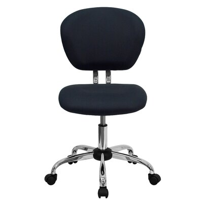 Personalized Mid-Back Mesh Desk Chair Color: Gray, Arms: No Arms