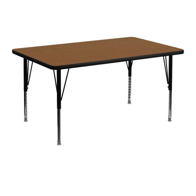 "48"" x 30"" Rectangular Activity Table Tabletop Color: Oak"