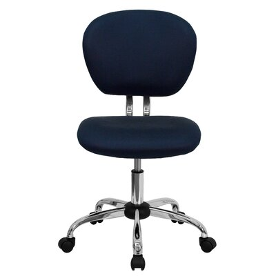 Personalized Mid-Back Mesh Desk Chair Color: Navy, Arms: No Arms