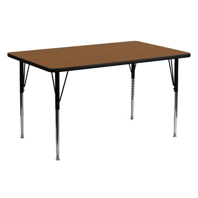 "60"" x 24"" Rectangular Activity Table Tabletop Color: Oak"