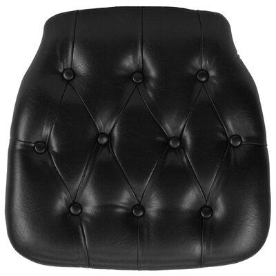 Hard Tufted Vinyl Chiavari Chair Cushion Color: Black