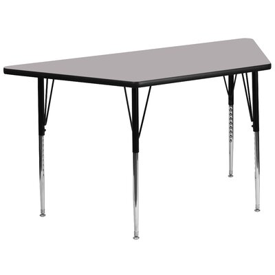 "57.5"" x 26.25"" Trapezoidal Activity Table Tabletop Color: Grey"