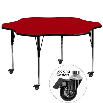 """60"""" x 60"""" Novelty Activity Table Tabletop Color: Red"""