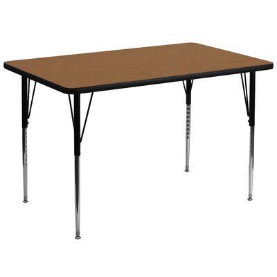 "72"" x 36"" Rectangular Activity Table Tabletop Color: Oak"