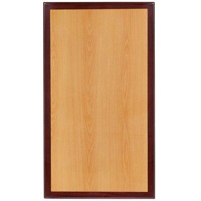 "Bavaria Rectangular Resin Table Top Size: 30"" W x 45"" L"
