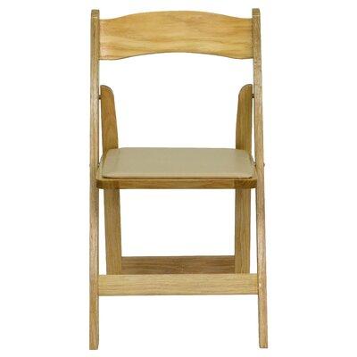 Laduke Wood Folding Chair Quantity: Set of 52, Wood Color / Vinyl Seat: Natural / Beige