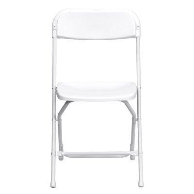 Laduke Plastic Folding Chair Quantity: Set of 52, Color: White