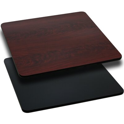 "Square Reversible Laminate Table Top (Set of 2) Size: 24"" Square, Quantity: Set of 30, Color: Natural or Walnut"