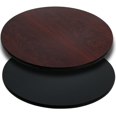 """Round Reversible Laminate Table Top Size: 24"""" Round, Color: Black or Mahogany, Quantity: Set of 30"""