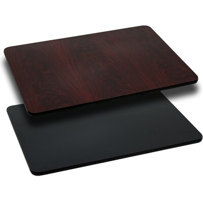 "Rectangular Reversible Laminate Table Top Size: 24""W x 30""L, Quantity: Set of 10, Color: Natural or Walnut"