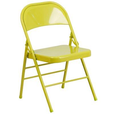 Hercules Colorburst Folding Chair Color: Citron