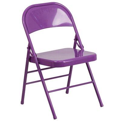 Hercules Colorburst Folding Chair Color: Purple