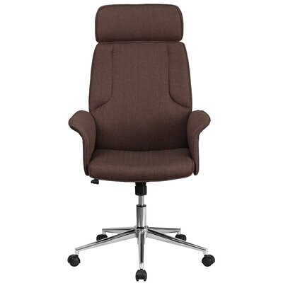 Yair High-Back Executive Chair Color: Brown