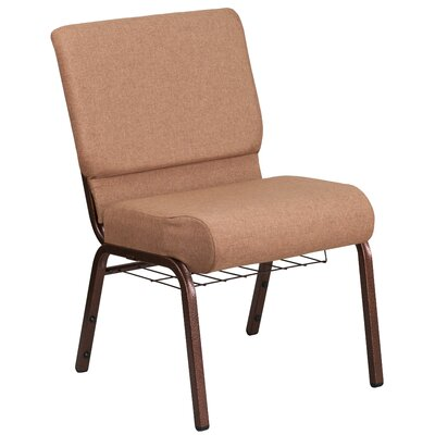Bressler Guest Chair Seat Color: Brown, Finish: Copper