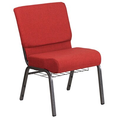 Bressler Guest Chair Seat Color: Crimson, Finish: Silver